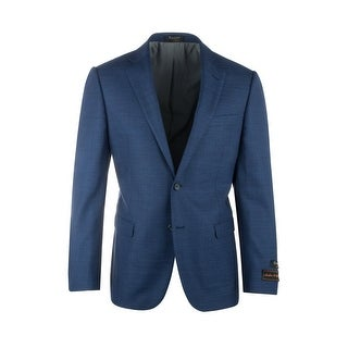 Sangria Navy Blue Pure Crepe Wool Jacket by Tiglio Luxe