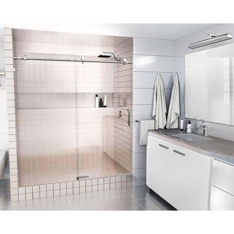 Glass Warehouse 64 in. - 68 in. x 78 in. Frameless Sliding Shower Door