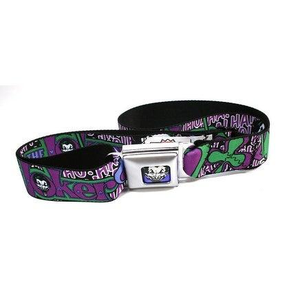 Batman The Joker Villain Seatbelt Belt-Holds Pants Up