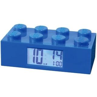Lego Brick Alarm Clock - Blue