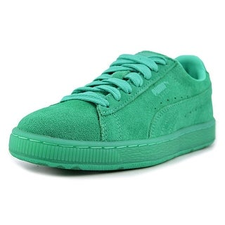 Puma Suede Classic Ice Mix Jr Youth Round Toe Suede Green Sneakers