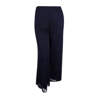 MSK Women's Solid Chiffon Wide-Leg Pants