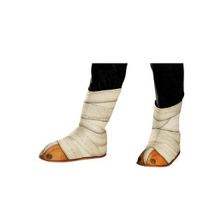 Disguise Panda-Po Child Shoe/Boot Covers - White