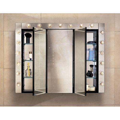 "Robern PLM3630W 36"" Triple Door Mirrored Medicine Cabinet"
