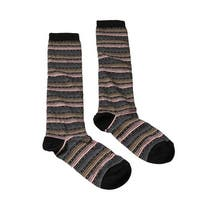 Missoni GM00CMD5220 0005 Gray/Pink Knee Length Socks - Grey