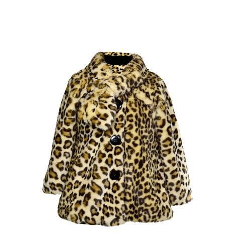 Little Girls' Faux Fur Leopard Coat by Widgeon