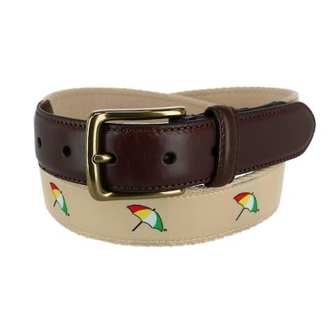 Arnold Palmer Men's Ribbon Inlay Golf Belt