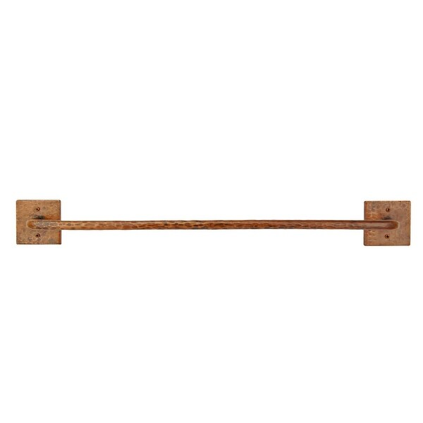 "Premier Copper Products TR24DB 24"" Towel Bar Hand Hammered Copper - Oil Rubbed Bronze"