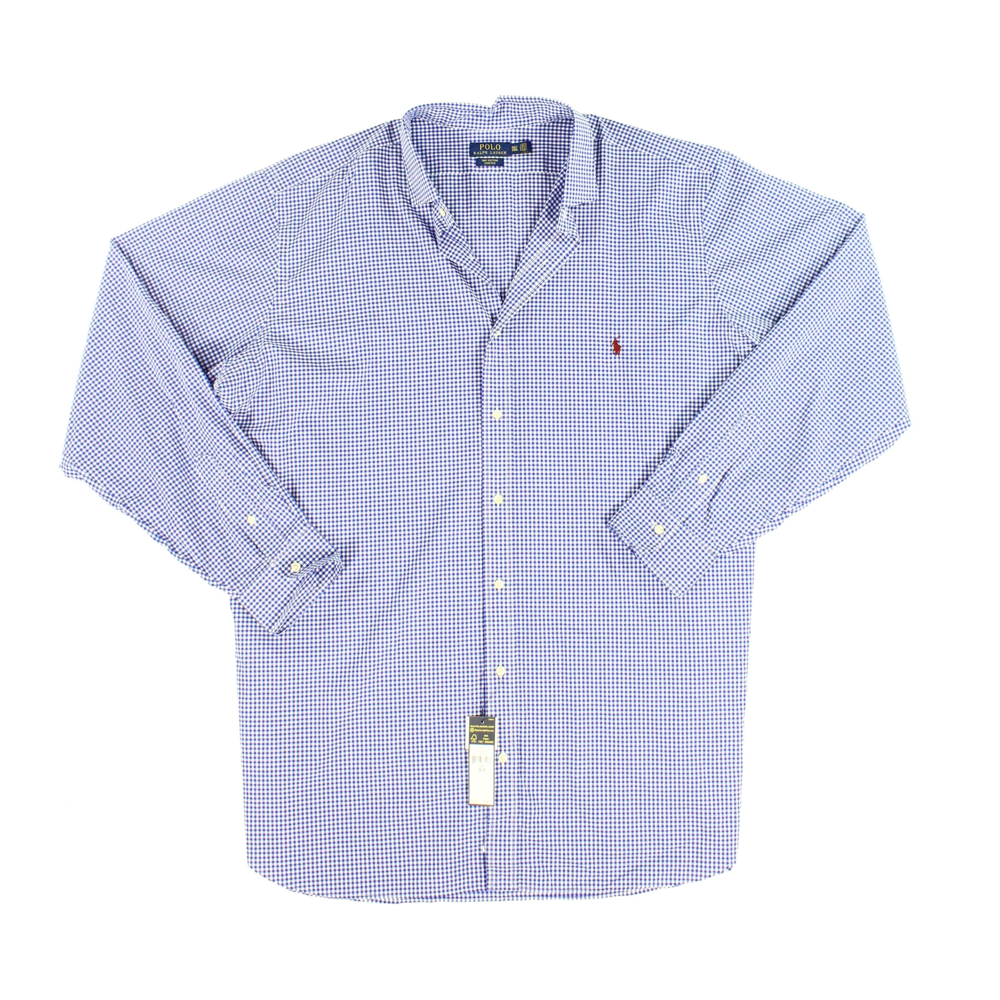 Ralph Down Bigamp; 3xlt Tall Polo Shirt Blue Lauren Size Mens Button 8k0nOwP