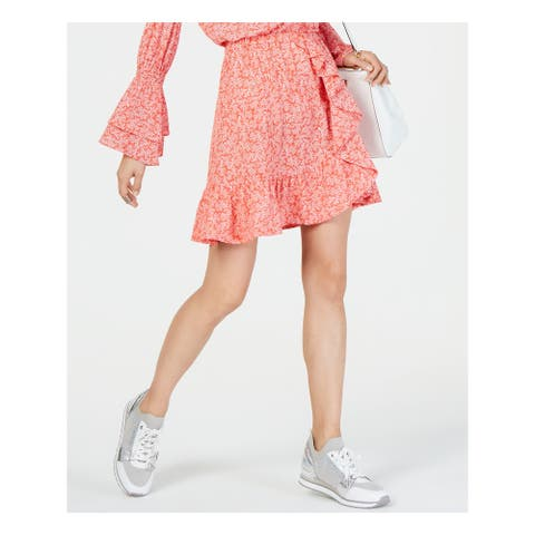 MICHAEL KORS Womens Coral Above The Knee Skirt Size XXL