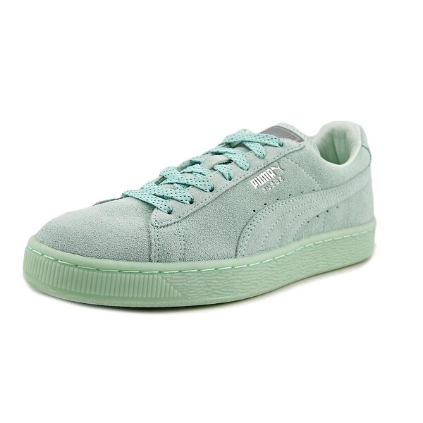 Puma Suede Classic Women Round Toe Suede Green Sneakers