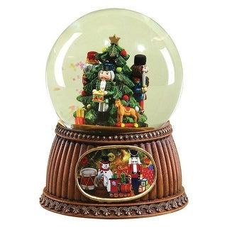 "Roman 33042ACE Nutcracker Christmas Glitter Dome, 5.5"""