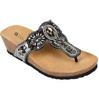 White Mountain Women's Bountiful Black/Multi Beading
