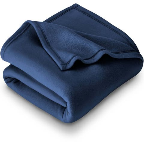 Bare Home Polar Fleece Blanket - Warm & Cozy - Lightweight Bed Blanket