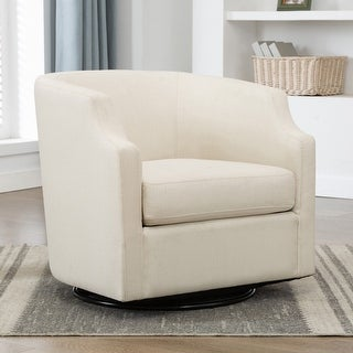 Link to Cayden Swivel Barrel Glider Chair by Greyson Living Similar Items in Living Room Chairs