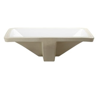 """DecoLav 1409 Classically Redefined 17-1/2"""" Rectangular Undermount Vitreous China Lavatory Sink with Overflow"""