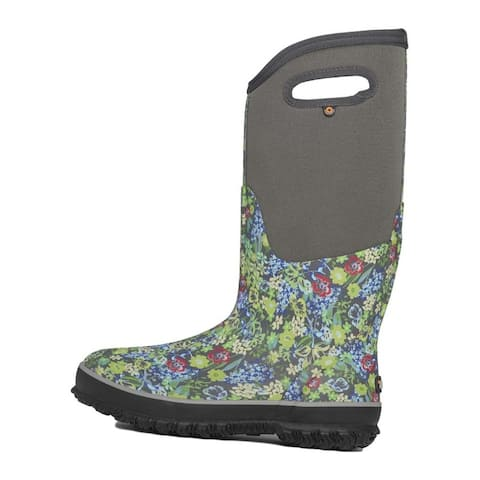 Bogs Outdoor Boots Womens Night Garden Classic Tall Gray Multi