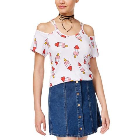 Hybrid Womens Popsicle Basic T-Shirt, White, Small