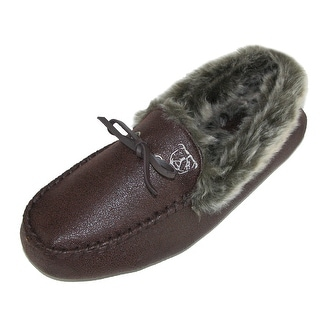 Ugly Me Men's Faux Suede Closed-Back Jack Moccasin Slipper with Faux Fur Lining