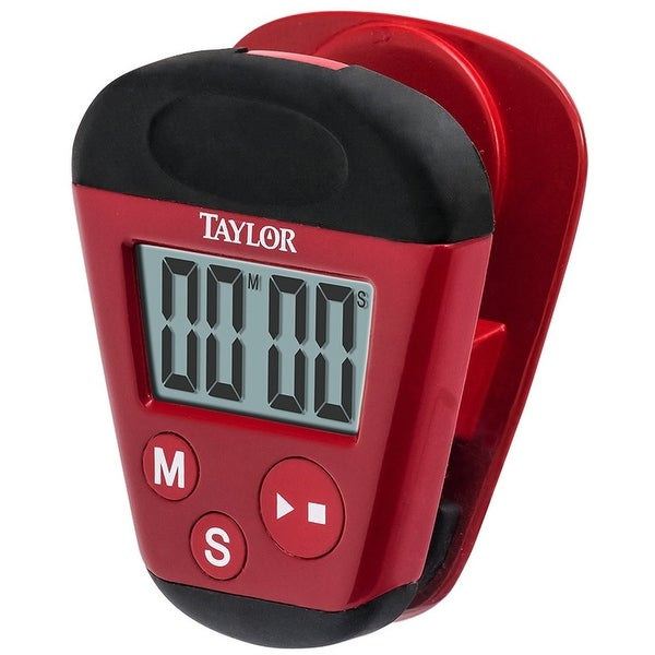 Taylor 5875 Digital Kitchen Clip Timer, Red. Opens flyout.