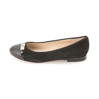 Marc Fisher Womens JODITA Leather Round Toe Slide Flats