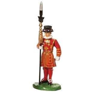 Iconic British Figurines: British Bobby, Beefeater, And Bagpiper Statue - Beefeater - multicolor