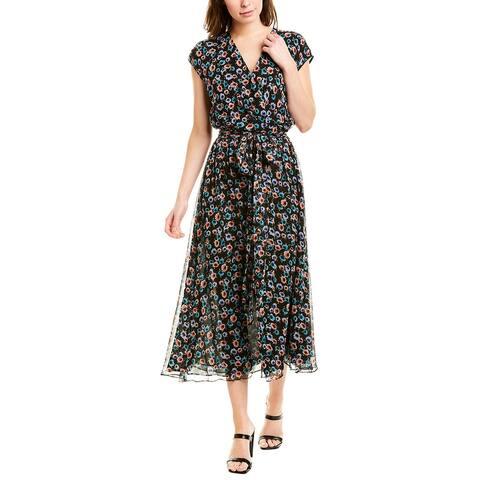 Jason Wu Wrap Bodice Silk Midi Dress