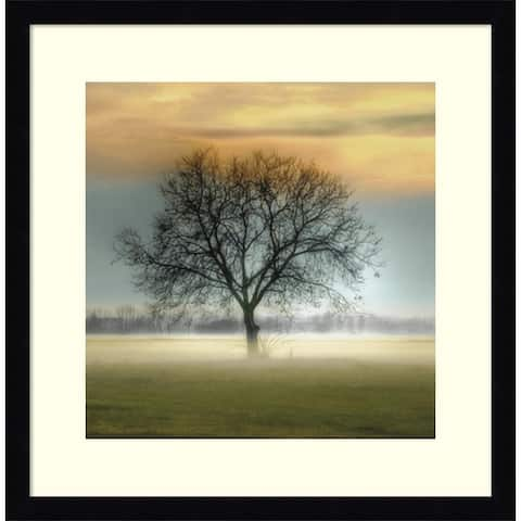 Framed Art Print 'Misty Silhouette' by Steven Mitchell 17 x 17-inch