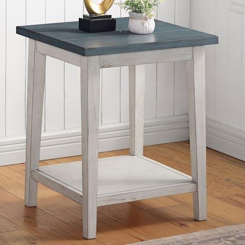 Furniture of America Lanningham Transitional Open-shelf Side Table