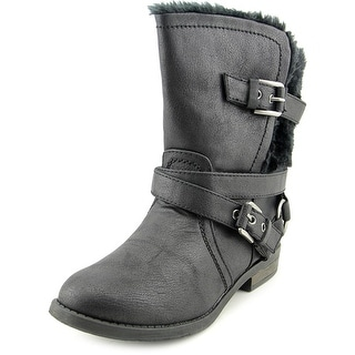 Carlos by Carlos Santana Hagen 2 Women Round Toe Synthetic Black Mid Calf Boot