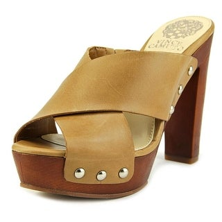 Vince Camuto Elora Women Open Toe Leather Tan Platform Sandal