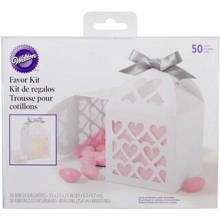 Favor Kit Makes 50-White Lace Paper Lantern - White