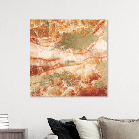 Oliver Gal 'Vacation Geode' Abstract Wall Art Canvas Print - Orange, Gold