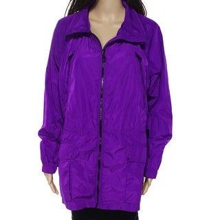 Lauren By Ralph Lauren NEW Ultra Purple Womens Size Large L Raincoat