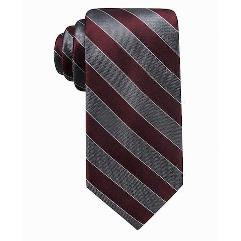 Ryan Seacrest Distinction Men's Andros Stripe Silk Tie Pink Size Regular