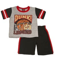 """Mad Game Boys Gray """"Dunk 23 Legend"""" Print Sports 2 Pc Shorts Outfit"""