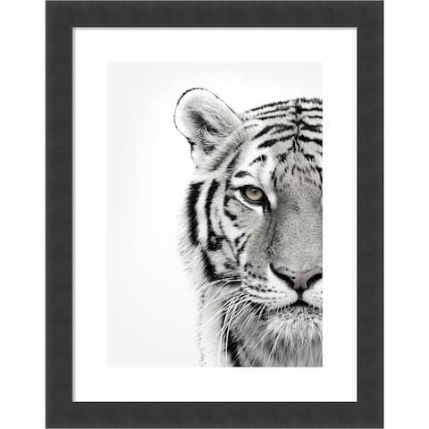 White Tiger by Design Fabrikken Framed Wall Art Print