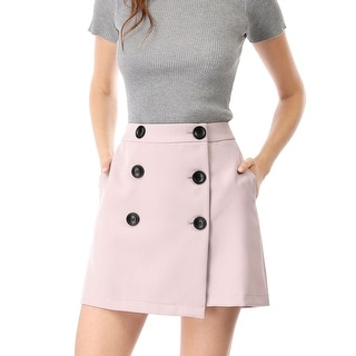 Link to Women's High Waist A-line Above Knee Button Up Skirt - Pink Similar Items in Skirts