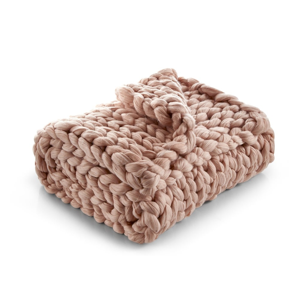 Shop Emalia Chunky Knit Throw from Overstock on Openhaus