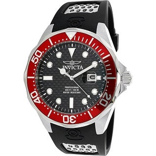 Invicta Men's Pro Diver Red Rubber Quartz Diving Watch