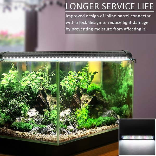 18 24w Led Aquarium Light Extendable Dimmable 7 Colors Full Spectrum Light Fixture For Freshwater Planted Tank Overstock 32336047