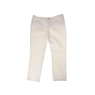 Style & Co Plus Size Beige Slim-Leg Jeans W