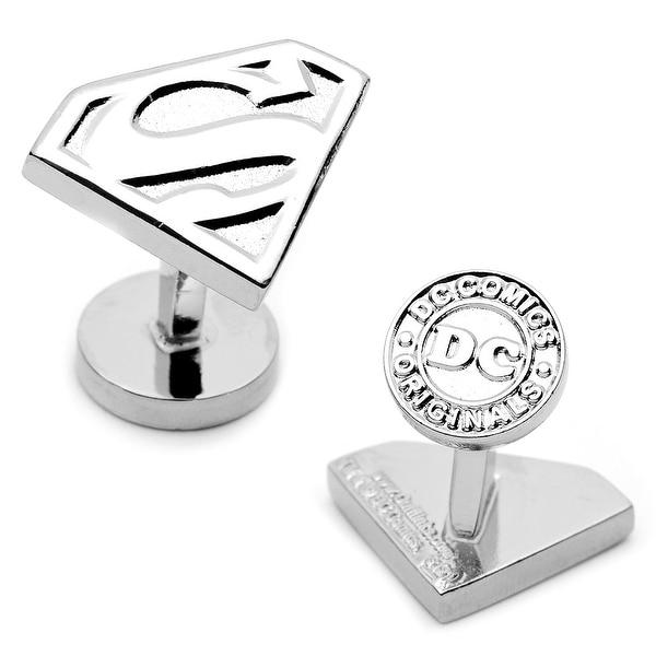 Silver Superman Shield Cufflinks
