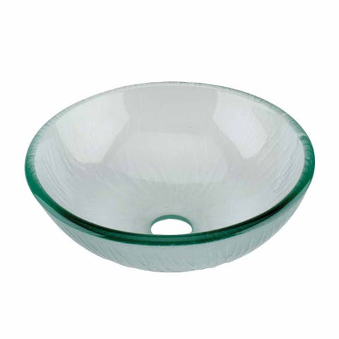 Frosted Green Tempered Glass Vessel Sink With Drain Renovators Supply