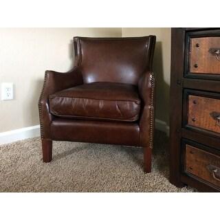 Carbon Loft Linden Vintage Brown Leather Club Chair