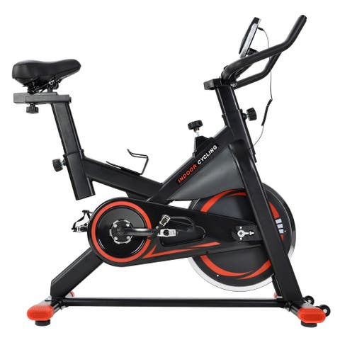 Merax Silent Belt Drive Indoor Cycle Bike with Leather Resistance Pad