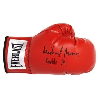 Michael Moorer Everlast Red Boxing Glove WDouble M