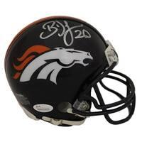 Brian Dawkins Autographed Denver Broncos Mini Helmet JSA