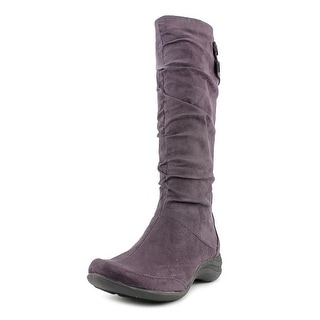 Hush Puppies Milieu Women Round Toe Synthetic Purple Boot