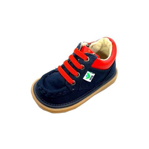 Mooshu Trainers Little Boys Navy Blue Squeaky Bailey Ankle Boots